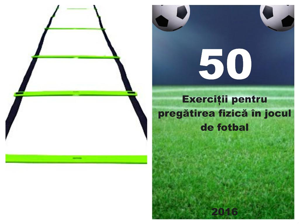 """Scărițe viteză (6 metri) + Cartea """"50 Exerciții pentru pregătirea fizică în jocul de fotbal"""""""