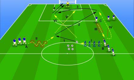 Pregătire fizică fotbal.