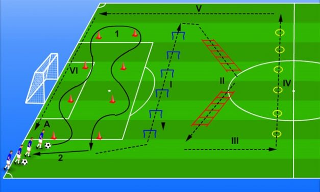 Antrenamente fizice fotbal – 3 exerciții.
